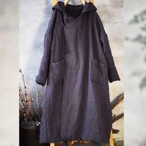 Image 4 - Warme Dicke Parkas Mit Kapuze Frauen Winter Neue 2019 Baumwolle Leinen Taschen Baumwolle gefütterte Warme Kleidung Frauen YoYiKamomo