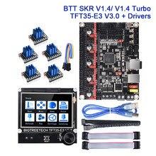 Bigtreetech skr v1.4 turbo placa de controle + tft35 e3 v3.0 tela sensível ao toque tmc2209 tmc2208 uart peças impressora 3d cr10 atualizar skr v13