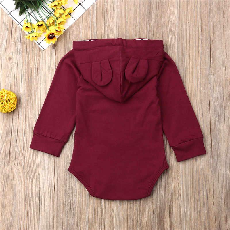 Одежда для новорожденных мальчиков и девочек полосатая повязка с длинными рукавами и капюшоном, комбинезон, Осенний хлопковый Детский комбинезон для малышей