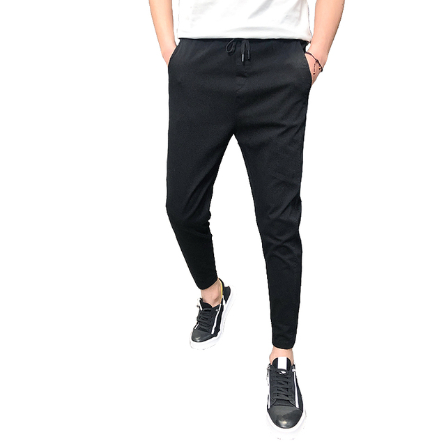 Pantalones Hombre Fashion 2020 New Spring Streetwear Joggers Men Slim Fit All Match Solid Casual Pants Men Drawstring Trousers 6