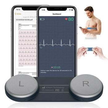 Poręczny EKG Holter Monitor pracy serca przenośny EKG monitorowanie Bluetooth EKG serce Monitor zdrowia darmowa aplikacja PDF raport opieka domowa tanie i dobre opinie schbit CHINA 3 6 x 1 3 x 0 3 DuoEK Elektroniczne urządzenie do pomiaru tętna Dla palców Bluetooth ECG Monitoring