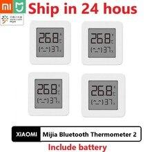 Original Xiaomi Mijiaบลูทูธเครื่องวัดอุณหภูมิ 2 ไร้สายสมาร์ทดิจิตอลเครื่องวัดอุณหภูมิทำงานร่วมกับMijia APP
