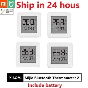 Image 1 - Original Xiaomi Mijia Bluetooth Thermometer 2 Wireless Smart Elektrische Digital Hygrometer Thermometer Arbeit mit Mijia APP