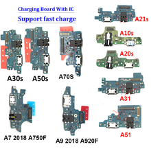 10 pezzi, connettore scheda porta di ricarica USB per Samsung A202F A750F A920F A105FN A105F A10S A20S A30S A50S A70S A21S A31 A51 A11
