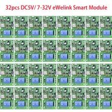 32 Cái/lốc DC5V/7 32V EWelink Thông Minh Phát WiFi Module Relay Hẹn Giờ Điều Khiển Từ Xa Không Dây Làm Việc Với alexa Google Home