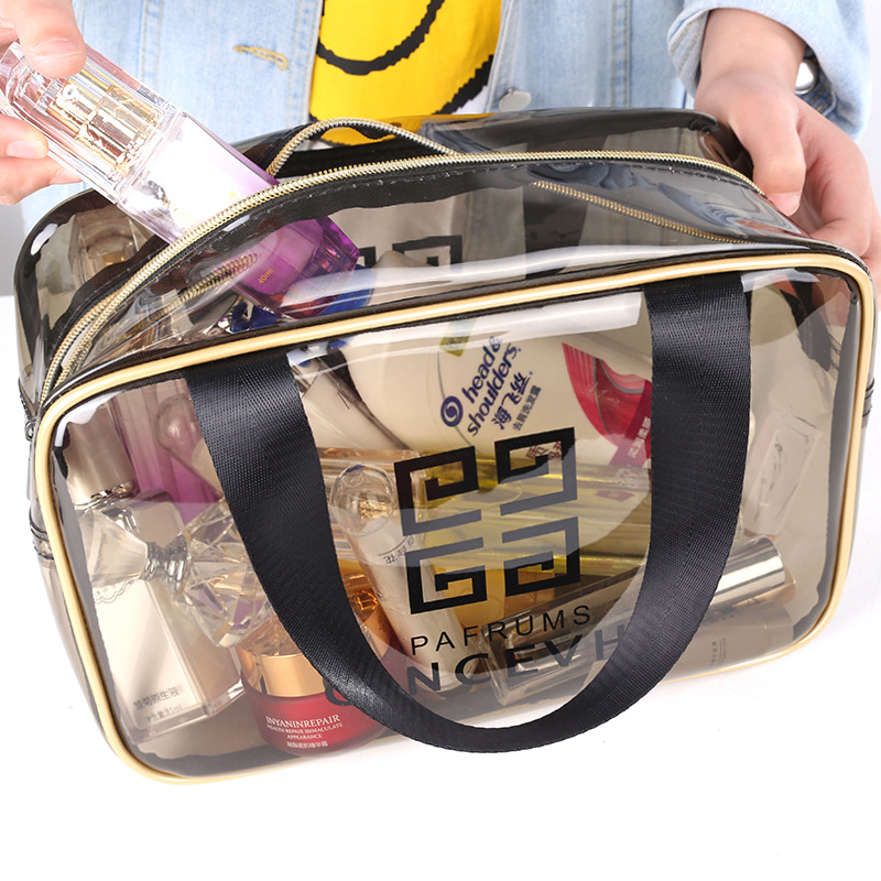 Waterproof Transparent Cosmetic Bag  Hand Wash Bag PVC Cosmetic Bag Makeup Case