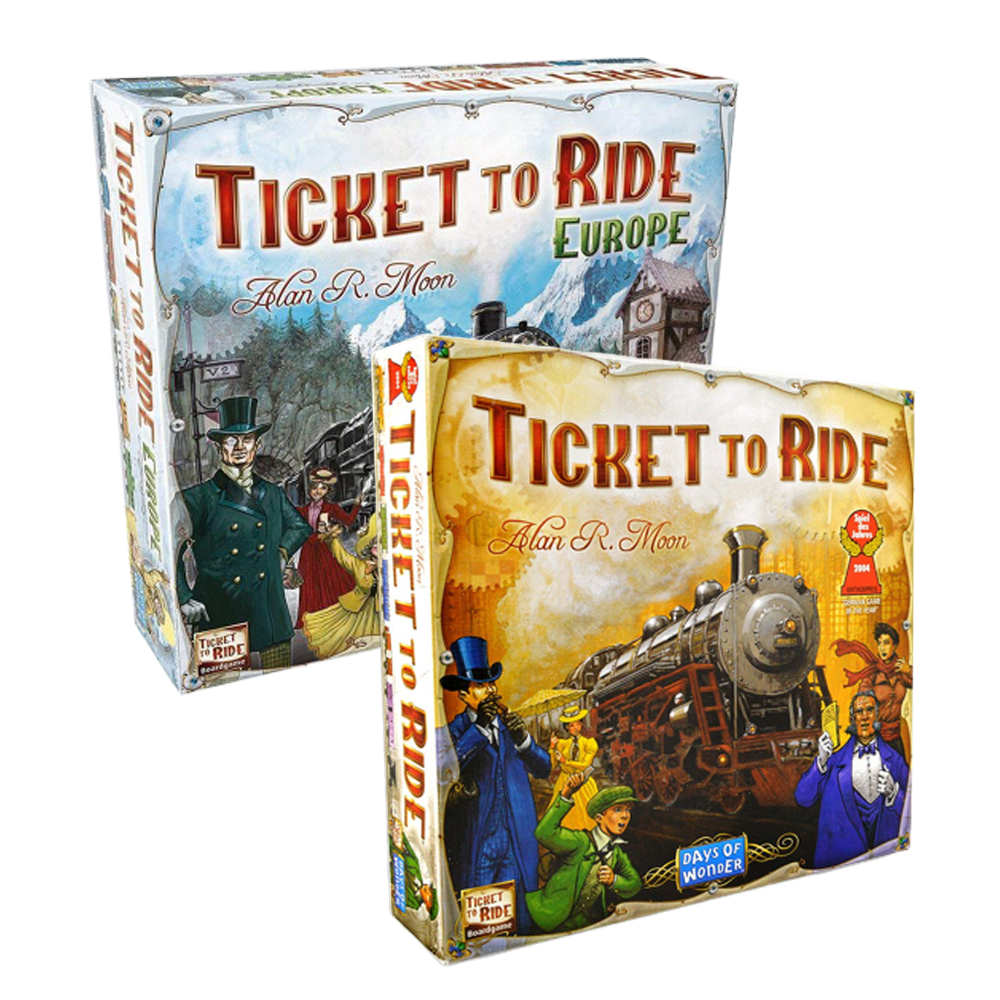 Ticket To Ride Board Game English US /European Edition Family Table Game Party Games For 2-5 Players