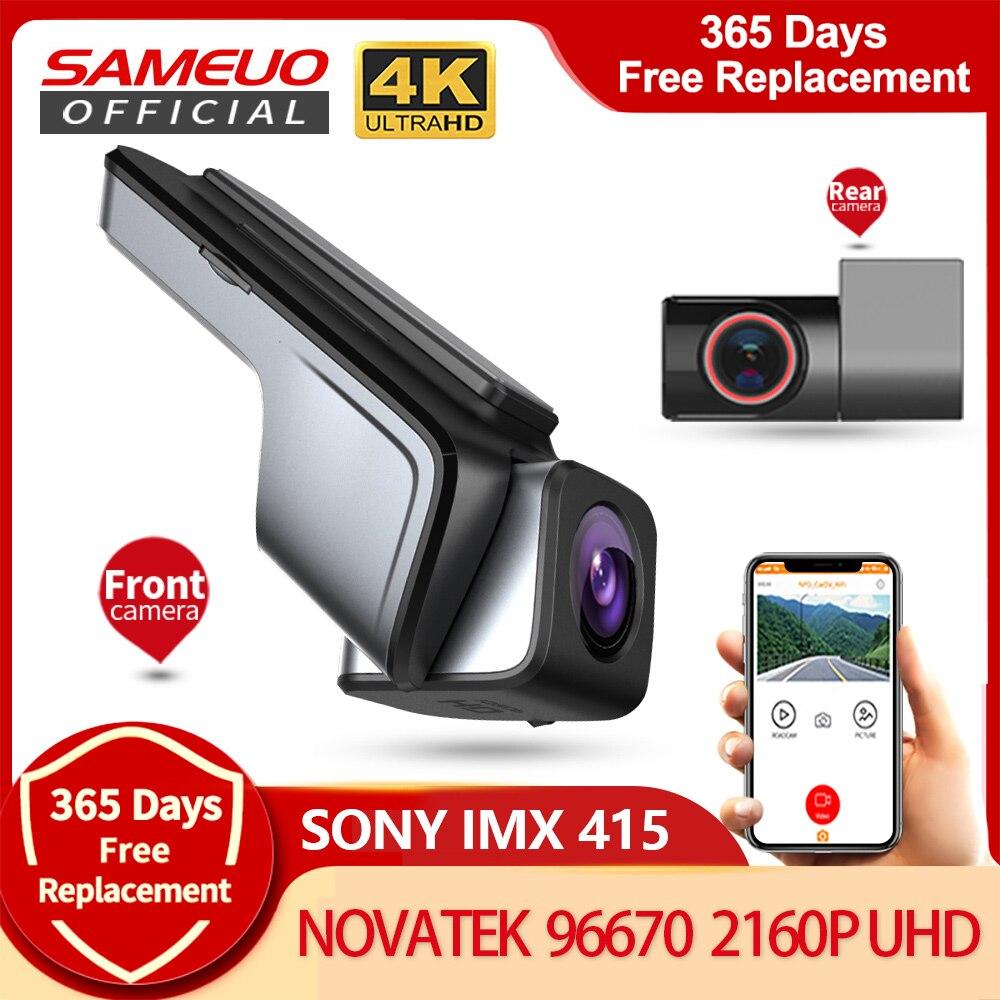 Sameuo U1000Pro Автомобильный dvr видеорегистратор с разрешением 4k видео рекордер передних и задних колес, быстрая камера, Скрытая Камера 2160P автомо...