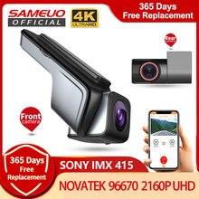 Sameuo u1000pro carro dvr traço cam 4k gravador de vídeo frente e traseira dashcam câmera escondida 2160p gravador de carro 24h estacionamento monitor