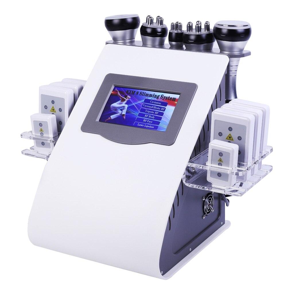 2020 Новое поступление 6 в 1 40K ультразвуковая кавитационная вакуумная радиочастотная Лазерная 8 подушечек липо лазерная машина для похудения ...