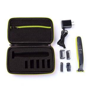 Image 5 - 필립스 용 휴대용 케이스 OneBlade 트리머 면도기 및 액세서리 EVA 여행용 가방 보관함 상자 면도기 전용 케이스 없음