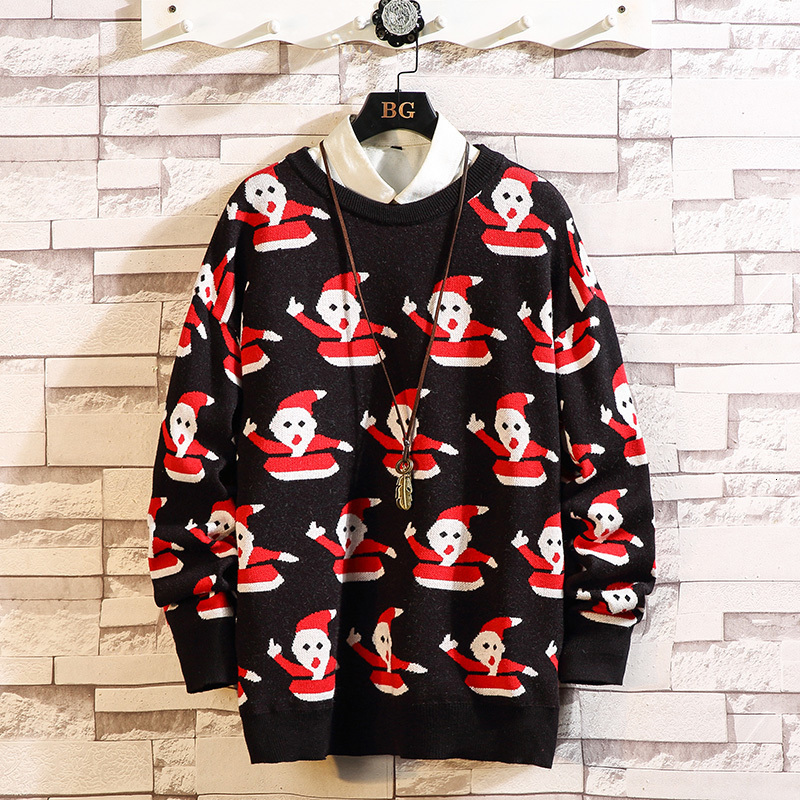 UYUK2019 Autumn/winter Wear New Semi-turtleneck Couple S Color-changing Sweater S Fashionable Loose Men's Fashion Trend Clothes