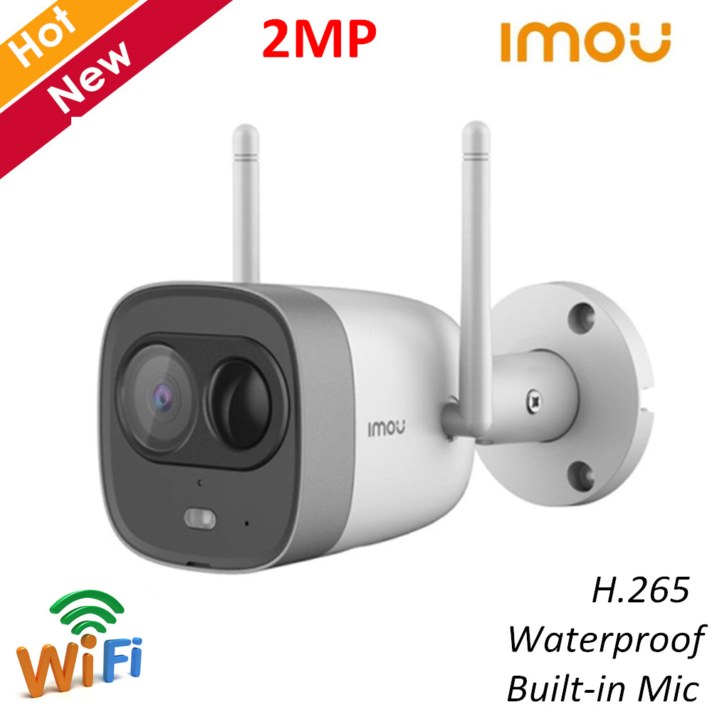 New Dahua Imou Wifi Camera 1080P H.265 Wireless Wi-Fi Dual Antenna Camera Built-in Microphone Night Vision Two-way Talk IP67