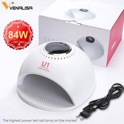 VENALISA U1 84W Schnelle Dry UV LED automatische Nagel Lampe Für Nägel Trockner Für Maniküre Gel Nagel Lampe Trocknen lampe Für Gel Lack