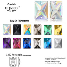 Rectangle Glass Strass Colorful Sew On Rhinestones Flatback Crystal Stones Clothes Jewellery Sewing Rhinestones For Garment 4320 light topaz dorp shape cut rhinestone crystal strass diy garment crafts sew on glass strass 3d rhinestones