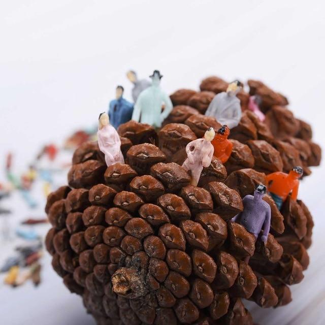 50 pces modelo pessoas figuras passenegers trem cenário 150/70/10/15/20/300 escala cor mista pose humano modelo abs plástico povos