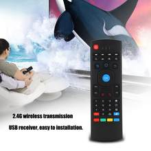 Mx3 inalámbrico Air Fly Mouse teclado 2,4G Smart TV STB control remoto teclado de doble cara para Windows98/ /NT/2000/XP/VISTA(China)