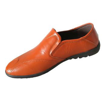 Nowe męskie skórzane buty męskie wygodne dorywczo wodoodporne jesienne mieszkania męskie buty biznesowe buty skórzane mokasyny 8 tanie i dobre opinie EUDILOVE Prawdziwej skóry Skóra bydlęca Slip-on Pasuje prawda na wymiar weź swój normalny rozmiar Stałe Dla dorosłych