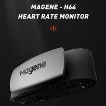 Ciclismo Magene Mover H64 Dual Mode ANT e Bluetooth 4.0 sensore di frequenza cardiaca con fascia toracica Computer Bike Wahoo Garmin Sports