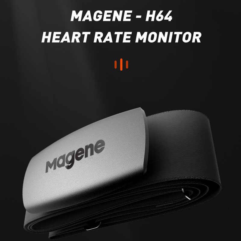 サイクリング magene ムーバー H64 デュアルモード ant + & bluetooth 4.0 心拍センサーチェストストラップコンピュータバイクワフーガーミンスポーツ