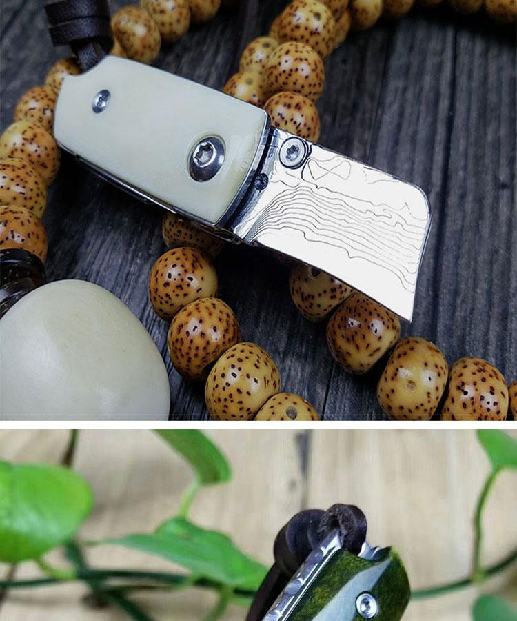 portátil mini pingente alta dureza afiada auto-defesa faca