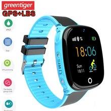 HW11 GPS akıllı saat çocuklar su geçirmez Smartwatch pedometre akıllı saat çocuklar SOS çağrı çocuklar güvenli GPS Tracker 2G çocuklar Smartwatch
