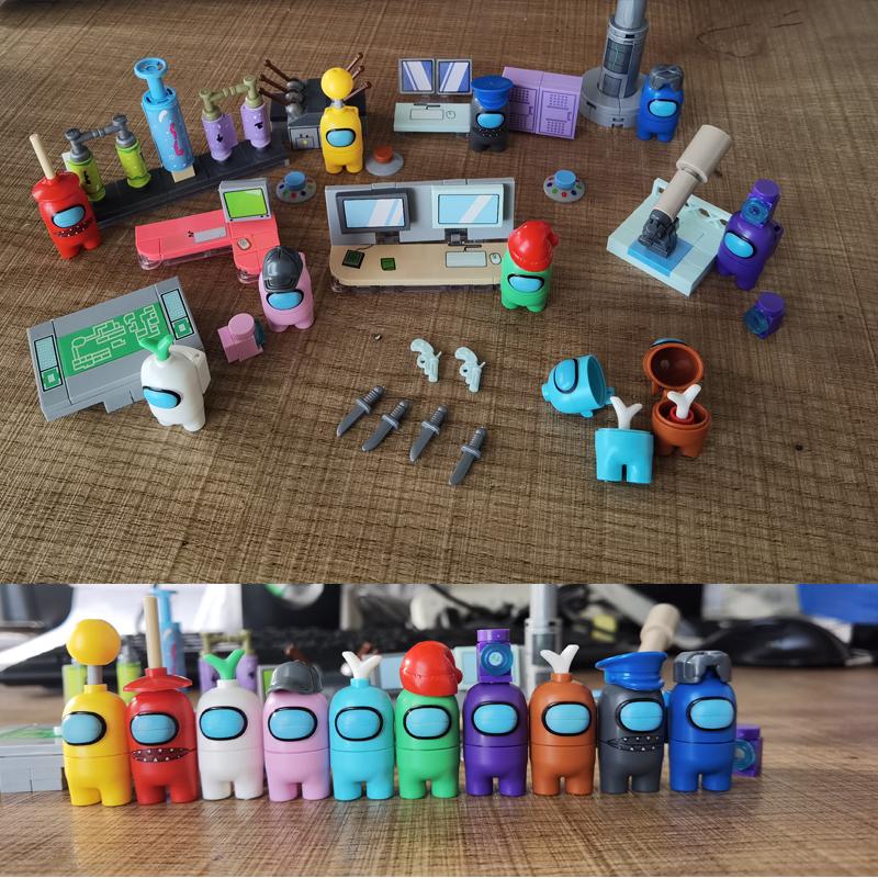 Game Series Amonges Us Space Alien Figures Model Building Blocks Bricks Action Figure Kids Toys Children Gift Xmas