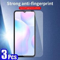 3 uds para Xiaomi Redmi Nota 7S 7S 8 S 8 de 8T 9 pro Max 9T 9S 9A 9C 9i 10X Pro Protecto de templado de vidrio de 8A 7A película protectora de teléfono
