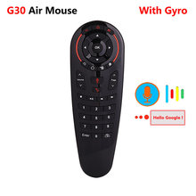 G30 g30s 2.4g giroscópio mouse de ar sem fio 33 teclas ir aprendizagem voz controle remoto para x96 mini h96 max android caixa vs g50s g50