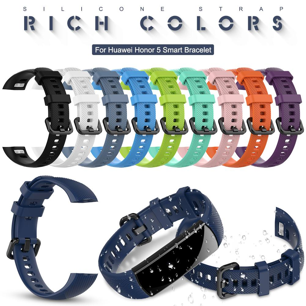 Silicone Watch Band For Huawei Honor 5 Smart Watch Bracelet Band Replacement Wristband Strap Accessories