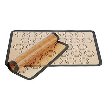 Silicone Baking Mat Pad Sheet Baking Pastry Tools Non-Stick Rolling Dough Mat Large Size For Cake Cookie Macaron Kitchen Tools silicone oven baking mat roll functional baking macaron non stick cake pad swiss roll pad baking tools for cakes silicone mat
