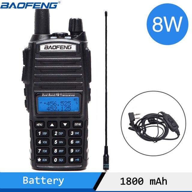 Baofeng UV 82 Plus Tri power 1W/4W/8W Powerful Walkie Talkie 10km Long Range Dual PTT Dual Band Two Way Radio BF UV82  UV 82