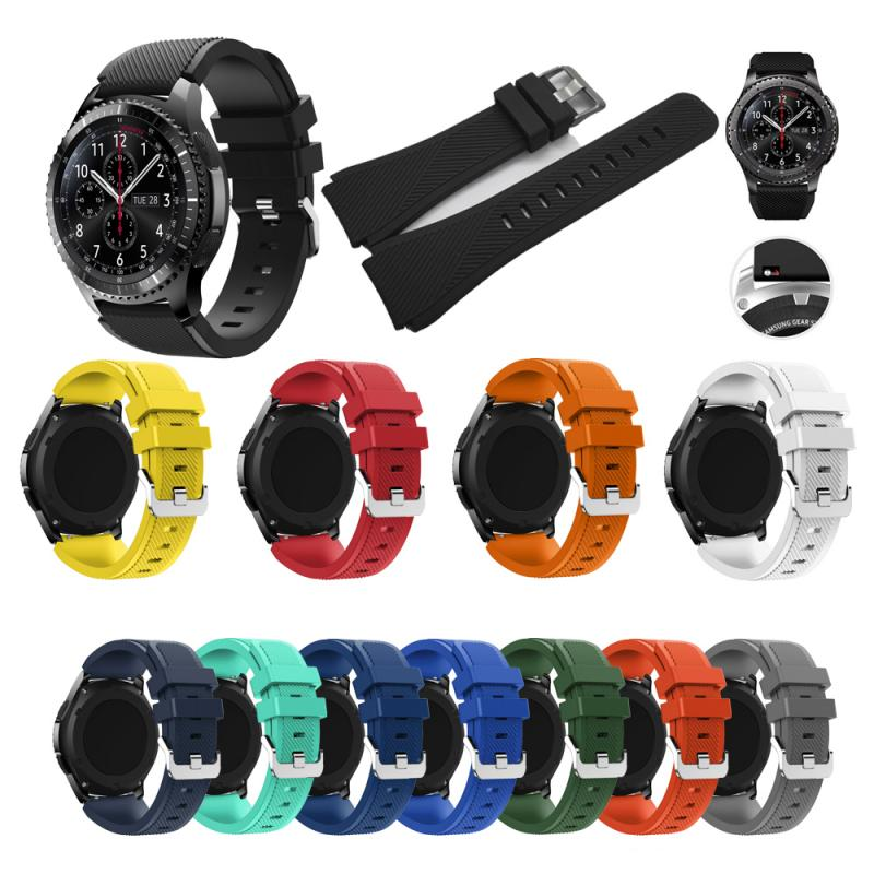 For Samsung Galaxy R800 22mm Wriststrap Strap Bracelet Accessories Replacement Silicone Strap Smart Watch For Huawei GT 22mm