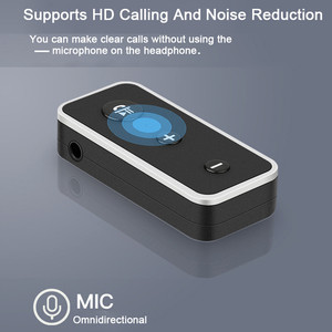 Image 2 - Rovtop Bluetooth 5.0 מקלט לרכב מוסיקת סטריאו 3.5mm AUX אודיו אלחוטי דיבורית מתאם עבור אוזניות רמקול עם מיקרופון z2