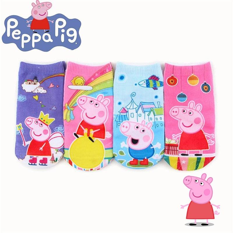peppa pig socks children cartoon cotton socks cute anime characters boys girls family outdoor socks birthday party gifts 2