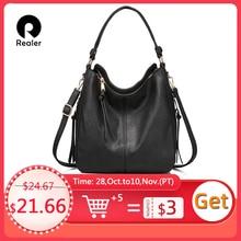 REALER femmes sacs à main femme bandoulière sacs à bandoulière haute qualité en cuir PU sacs de messager pour dames grands fourre tout grande capacité