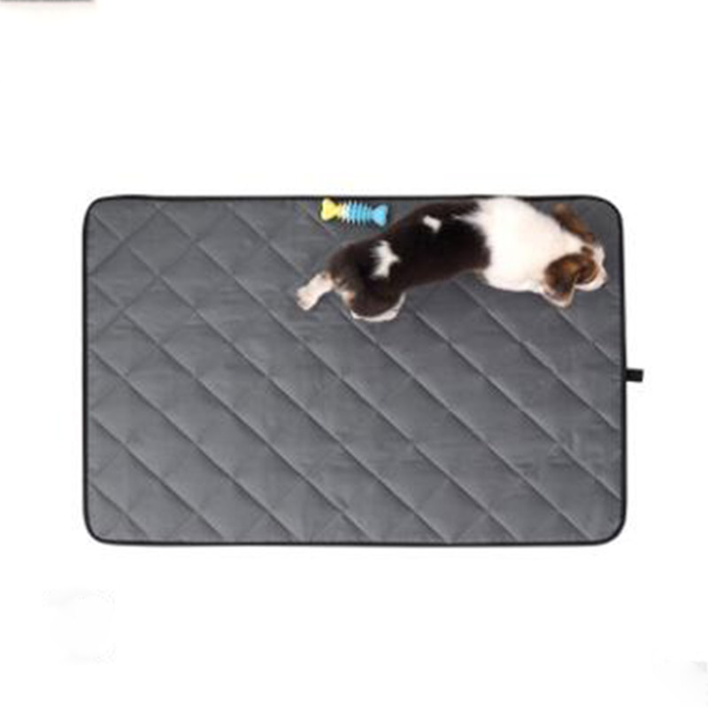 New Solid Color Dog Mat Summer Waterproof Bite resistant Oxford Cloth Kennel Sleeping Pad Large Dog Non slip Car Pet Mat