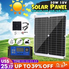 12V 24V 100W Flexible Monocrystalline Solar Panel For Car Boat Home Solar Battery Can Charge Waterproof With PWM Controller