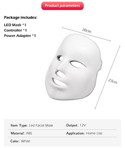 Image 2 - برو 7 لون LED قناع الوجه
