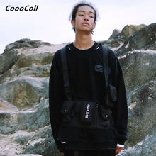 CoooColl Sweatshirts Kanye West Winter 19FW DESTROY Distress Old Crush SWEATSHIRT Streetwear HipHop Fashion Black Casual Men