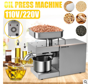 1500W 110V/220V automatic cold press oil machine, sunflower seeds extractor, olive pressextract