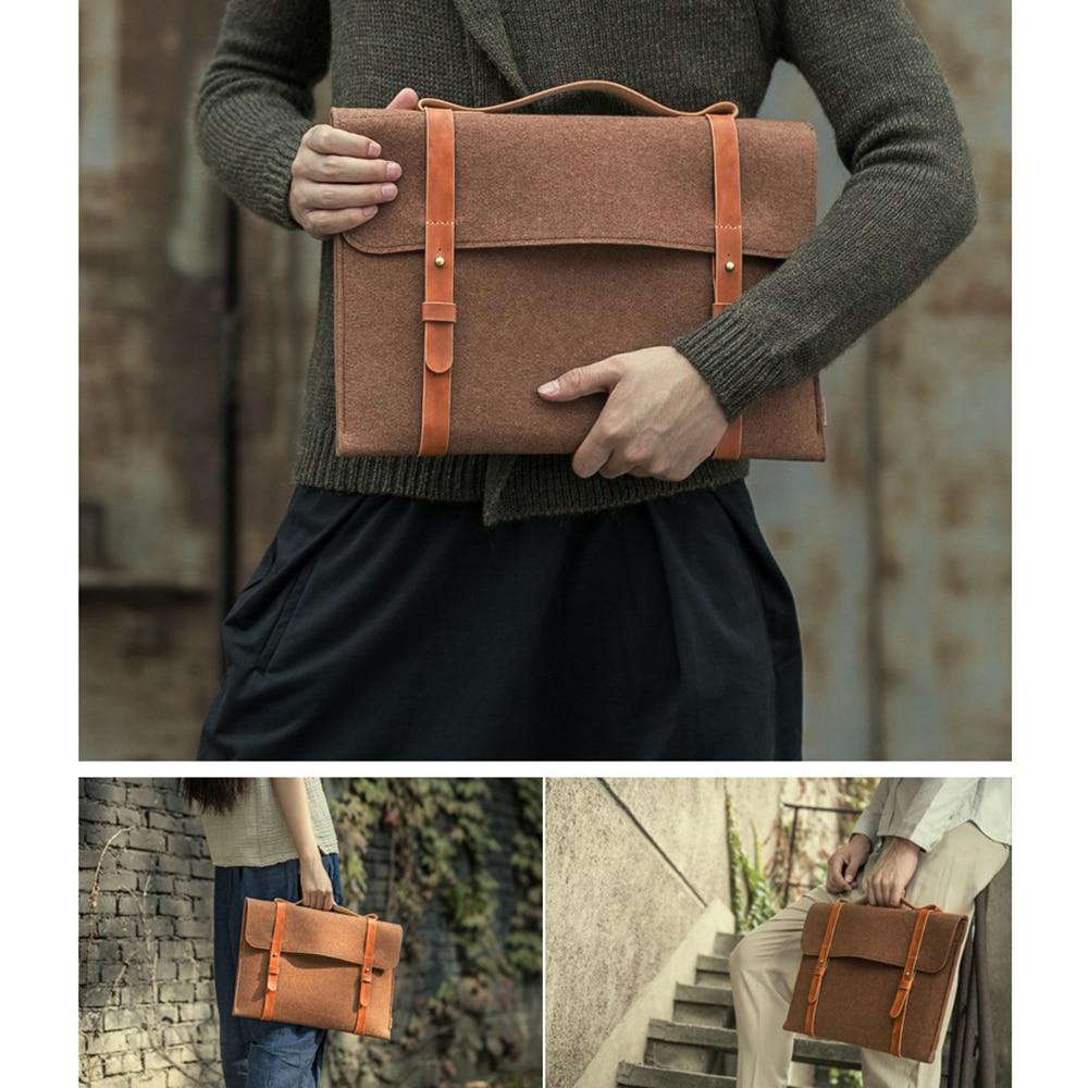 Felt Bag Slim Handbag Laptop Bag For Macbook Xiaomi Samsung Lenovo 13 14 15  Notebook IPad Tablet Case Portable Cover