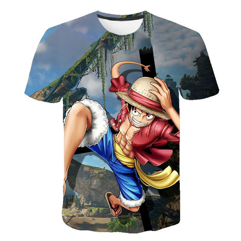 2020 New T -Shirt Summer Round Neck 3d Printed Short -Sleeved Trend Men And Women S -6xl Creative Anime Hip -Hop Style Wild