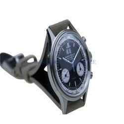 AD30 MERKUR PIERRE PAULIN TianJin1963 ST1901 ruch chronograf mechaniczny męski Pilot zegarek duża data