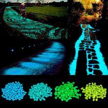 Świecące świecące kamienie świecące w ciemności ogrodnicy kamyki szklane na dekoracje ogrodowe dekoracja akwarium na zewnątrz kamyk tanie tanio W7042