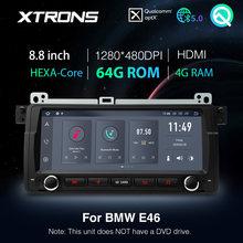 XTRONS Qualcomm Bluetooth 5,0 AptX 8,8 ''Android 10,0 PX6 Auto Stereo GPS für BMW E46 Limousine Für Rover 75 für MG ZT KEINE DVD