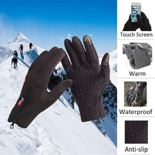 Motorcycle Gloves Touch Screen Full Finger Windstopper Ski Gloves Warm Riding Glove For Winter Sport