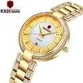 KADEMAN женские часы, модные часы Geneva, дизайнерские женские часы, роскошные брендовые кварцевые золотые наручные часы с бриллиантами, подарки д...