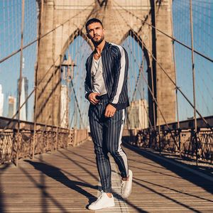 Image 3 - 2019 New Mens Autumn Hoodies Tracksuit Set Male Sweatshirt Sweatpants Multi pocket Fashion Trousers High Street Jackets Sets