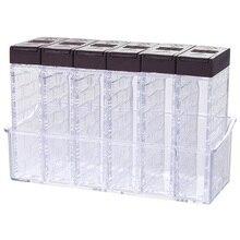 6 шт./партия емкость для приправ коробка Pp соль перец банки коробка кухня для хранения специй бутылки кулинарные кухонные принадлежности